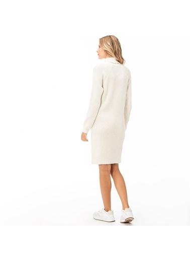 Lacoste Kadın Boğazlı Elbise EF2008.08A Bej